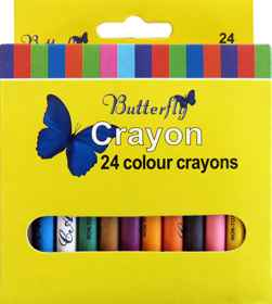 Wax Crayons - 24 Colour