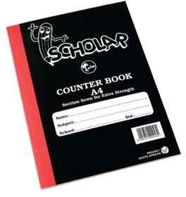 Counter Book A4 2Quire Feint-Margin