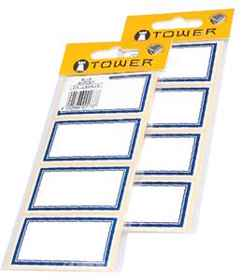Tower Blue Border Labels