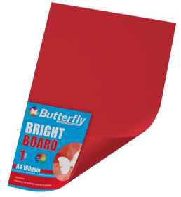 A4 Bright Board - 160gsm Single Red