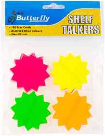 Shelf Talkers - Cut out Card Stars 100 (57mm)
