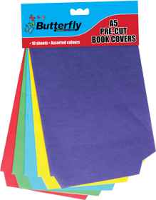 A5 Precut Book Covers - Bright Paper - 10 Pack