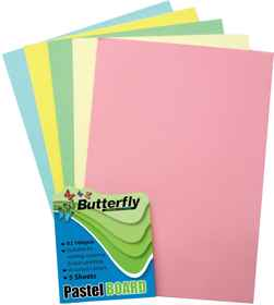 Mixed A2 Pastel Board - Pack of 5