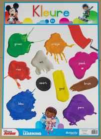 Disney Muurkaart - Kleure