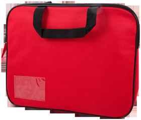 Homework Bag (Book Bag) With Handle - Red