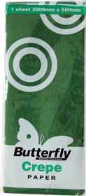 Crepe Paper - 1 Sheet (2m x 500mm) Green