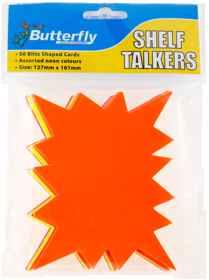 Shelf Talkers - Blitz Shape Cards (127 x 101mm)