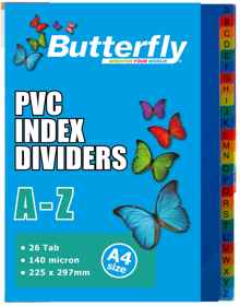 A4 File Dividers - 140 Micron A-Z 26 Tab