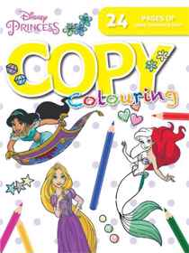 Disney Princess - 24pg Copy Colour Book