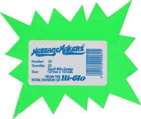 Shelf Talkers - Small Blitz Cards 25 (127 x 101mm)