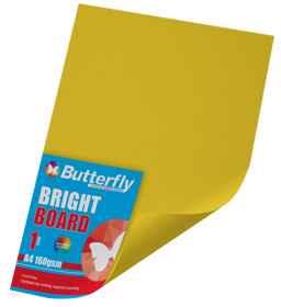 A4 Bright Board - 160gsm Single Yellow