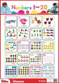 Disney Junior - Wallchart Numbers