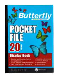 Butterfly Pocket File A4 20 Page