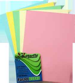 Assorted A4 Pastel Board - Pack of 50
