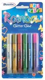 Bostik Glitter Glue 6x10.5ml