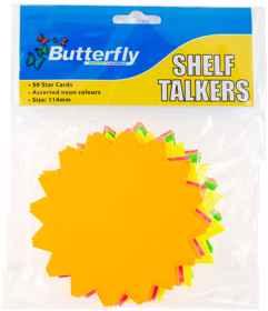 Shelf Talkers - Cut Out Card Stars 50 (114mm)