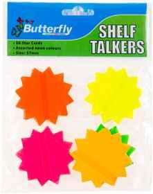Shelf Talkers - Cut Out Stars 50 (57mm)