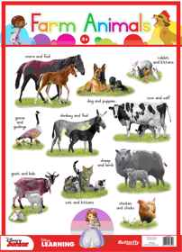 Disney Junior - Wallchart Farm Animals