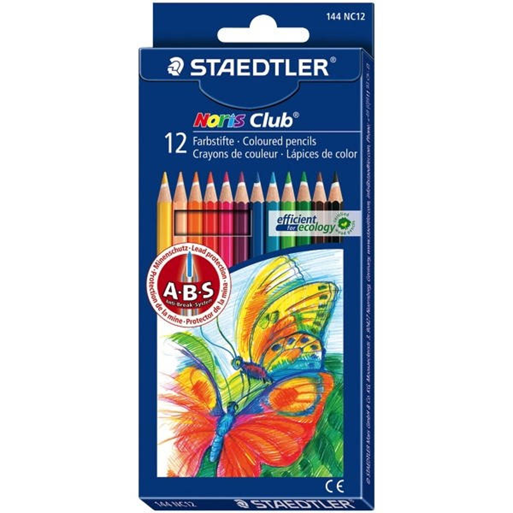 Staedtler Noris Club Coloured Pencil 12 Full Length