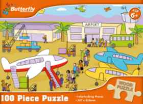 Butterfly A4 Wooden Puzzle - 100 Pieces (You get 1 of 4 Designs)