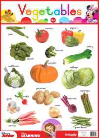 Disney Junior - Wallchart Vegetables