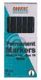 Parrot Marker Perm Med Box 10 Black