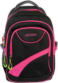 Avalanche Standard Student Backpack - Black-Pink