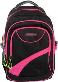 Avalanche Standard Student Backpack - Black-Pink