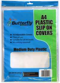A4 Plastic Slip-On Covers - Clear - 10 Pack 50 Micron