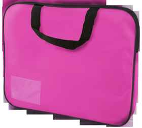 Homework Bag (Book Bag) With Handle - Pink