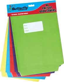 A4 Precut Book Covers - Bright Paper 10 Pack