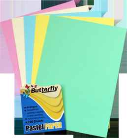 Mixed A4 Pastel Paper - Pack of 100