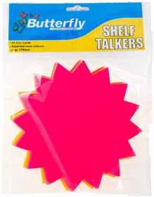 Shelf Talkers - Cut Out Card Stars 50 (178mm)