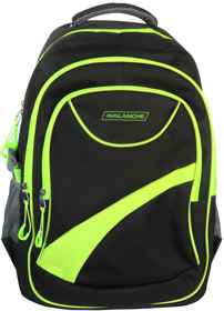 Avalanche Standard Student Backpack - Black-Lime