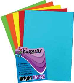 Mixed A4 Bright Paper - Pack of 250