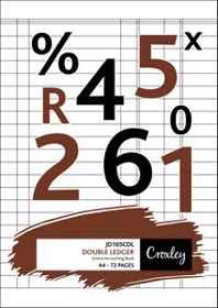 Croxley A4 Bookkeeping Practise book Double Ledger