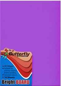 A4 Bright Board - Pack of 10 Purple