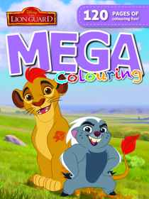 Disney Lion Guard - 120pg Mega Colour & Activity Book
