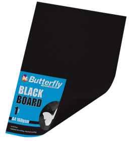 A4 Bright Board - 160gsm Single Black