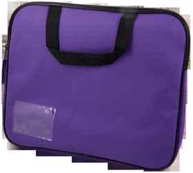 Homework Bag (Book Bag) With Handle - Purple