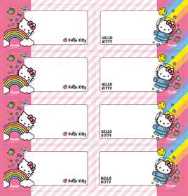 Hello Kitty - Self Adhesive Labels 16
