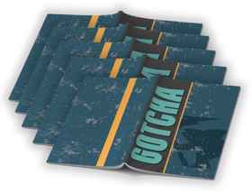 Gotcha Boys - A4 Precut Book Cover - 5 Pack