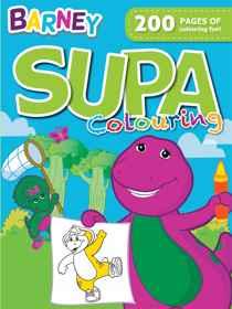 Barney - 200pg Supa Colour & Activity Book