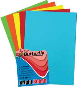 Assorted A3 Bright Board - Pack of 5