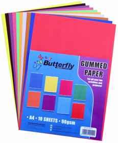 Mixed Gummed Paper - 90gsm 10 Sheet (A4)
