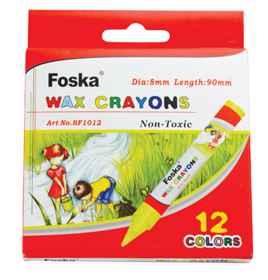 Jumbo Wax Crayon 12's Foska