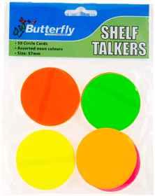 Shelf Talkers - Card Circles 50 (57mm)