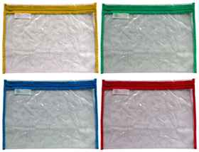 Clear PVC Book Bag - With High Quality Zip