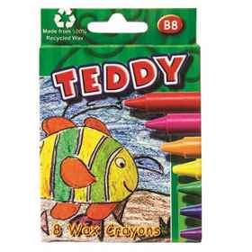 Teddy B8 Wax crayons assorted