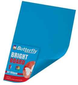 A4 Bright Board - 160gsm Single Blue